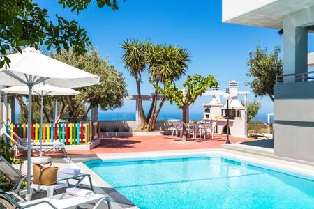 Villa Dianna ,Sea View and Sunset & Full Privacy ! - Somatas