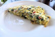 Yet another BnB omelet from Chef Nicole.  It didn't last very long.  ;-)