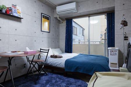 Near Park Hyatt|Shinjuku area|Cool Style|MAX3|WIFI - Shinjuku-ku - Apartment