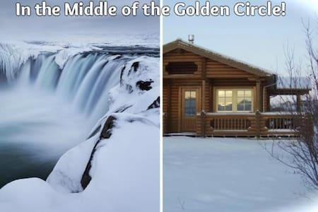 A log cabin at the river bank!