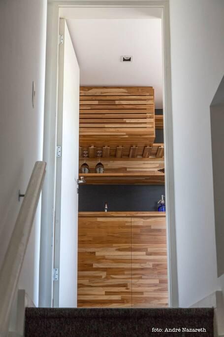 Escada de acesso ao loft