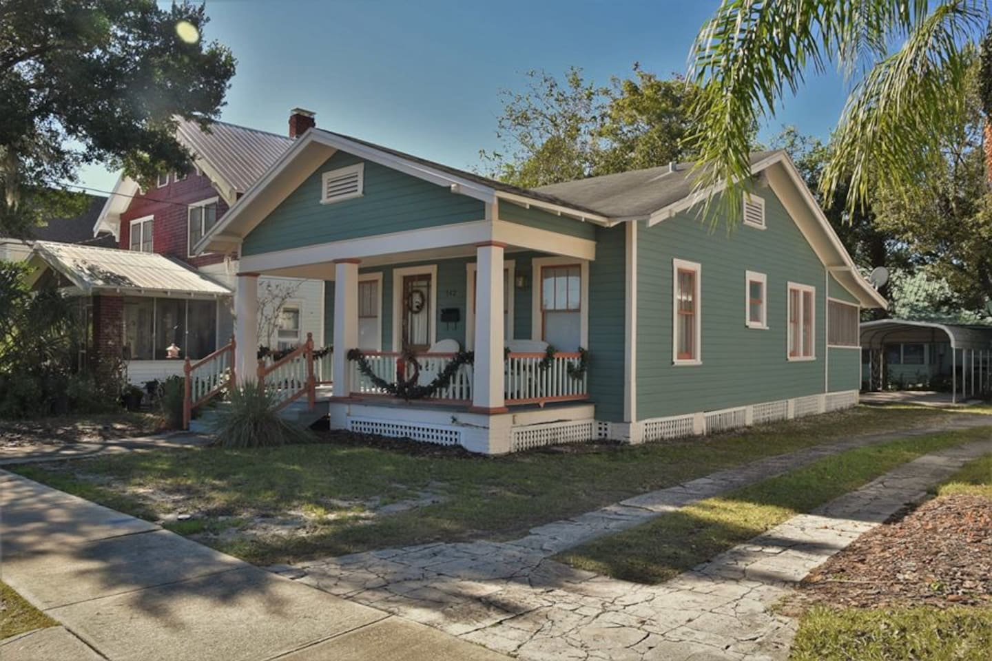 Little Green Bungalow.  Steps to Stetson!