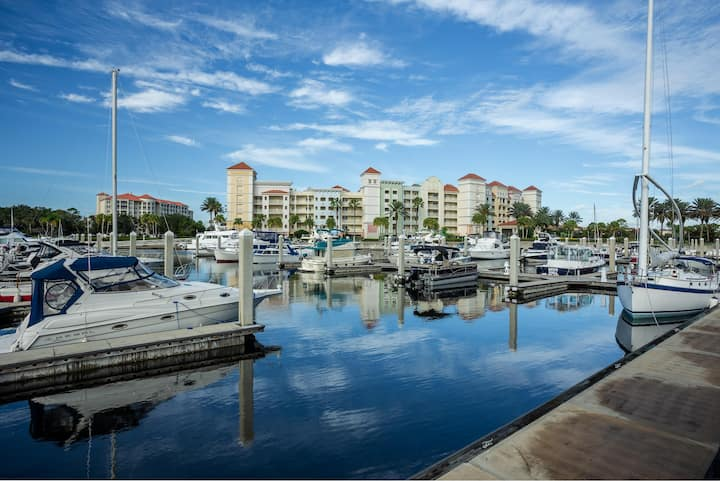 Hammock Beach Golf Resort and Spa - 2 BR 276 Intracoastal View Condo in the Yacht Harbor