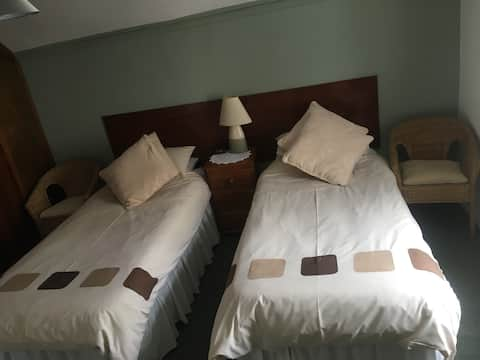 Twin / Double room in quiet village location.