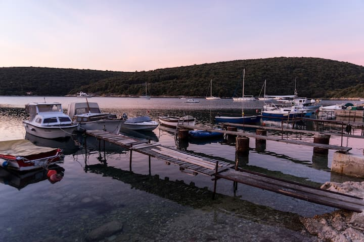krinca harbor in the early morning