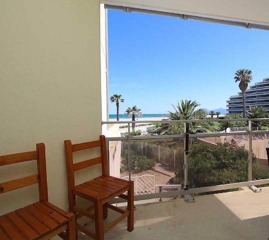 Appartement T2 avec terrasse vue mer - Canet-en-Roussillon - อพาร์ทเมนท์