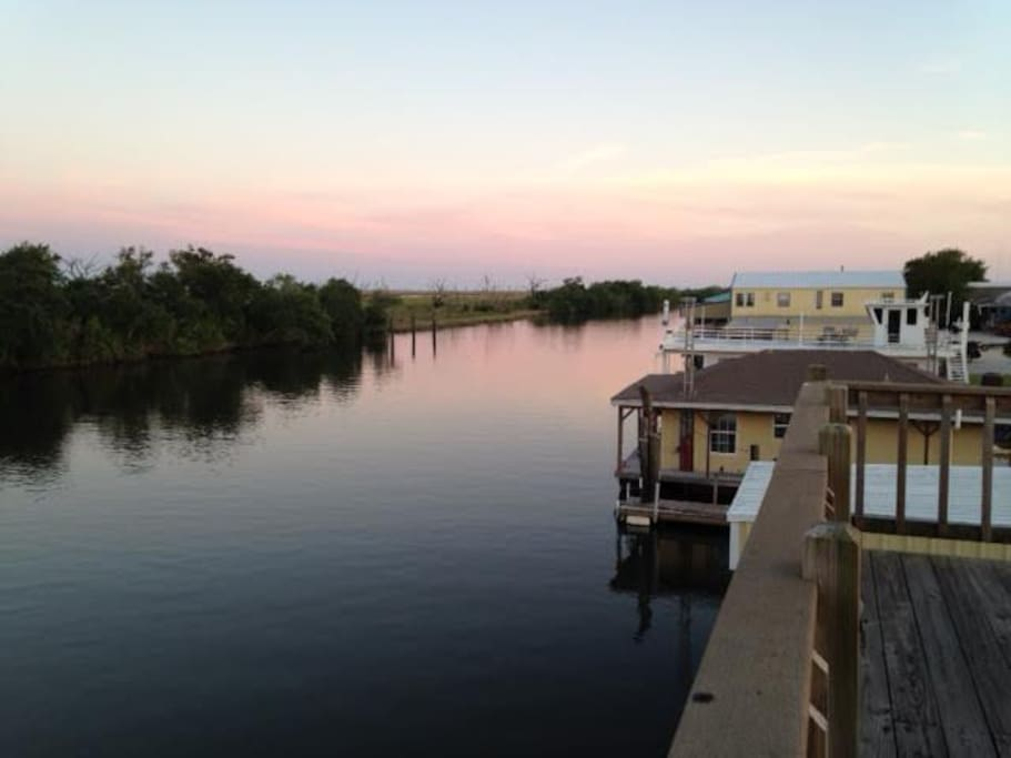 View from the crow's nest on the boat house.