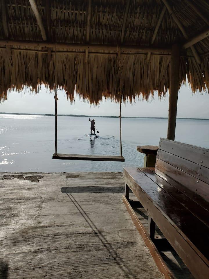 Casa Esmeralda de Bacalar Lakefront total property