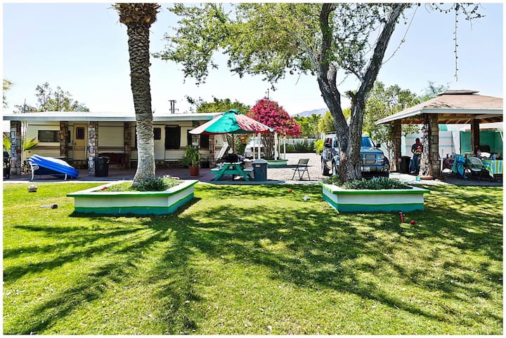 Trailer/RV camp, Green Grass patio, Trini's Camp#4