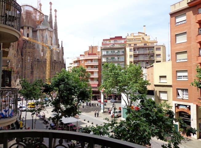 Apartamento con vista Sagrada Familia, Wifi, aire
