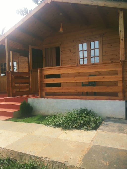 The wooden cottages are an ideal place for those looking for an relaxing Goan holiday