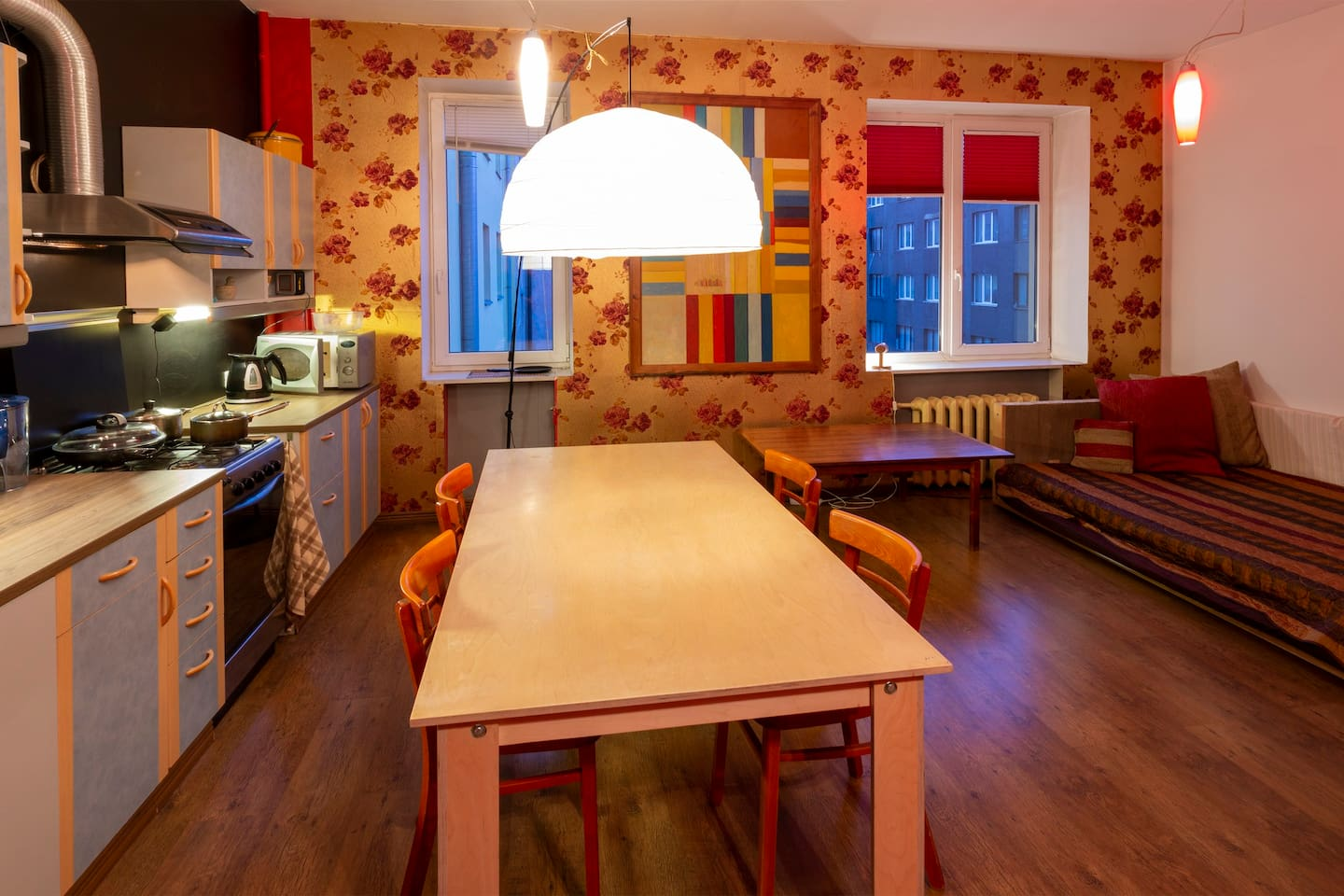 Colorful and spacious first room could alone be quite impressive studio apartment