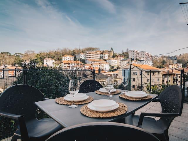 EIDER: Terraza, relax, familias