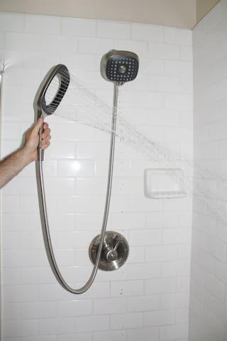 Handheld Showerhead optional. Setup 6 feet a 3 inches high.