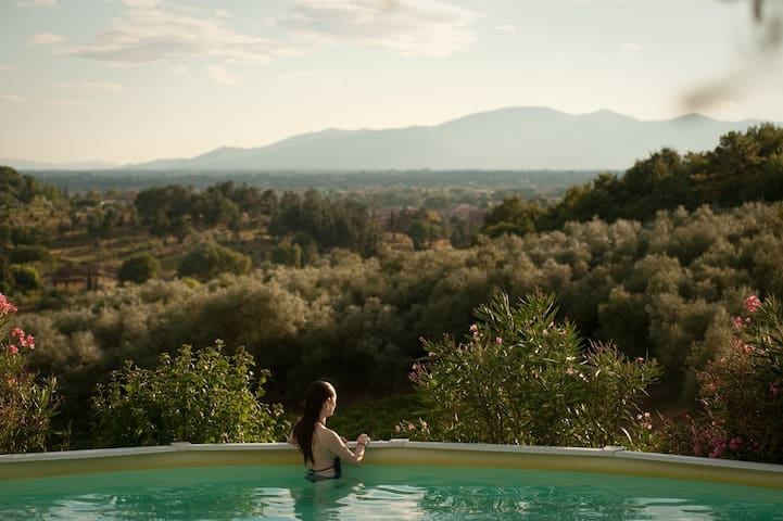 Bio-Farmhouse:panoramic pool overlooking vineyards - Serravalle Pistoiese - Outros