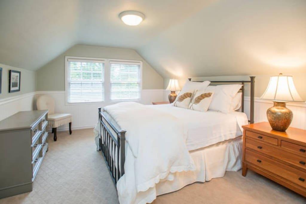 Bedroom #1  1000 Thread Count linen and walk in closet