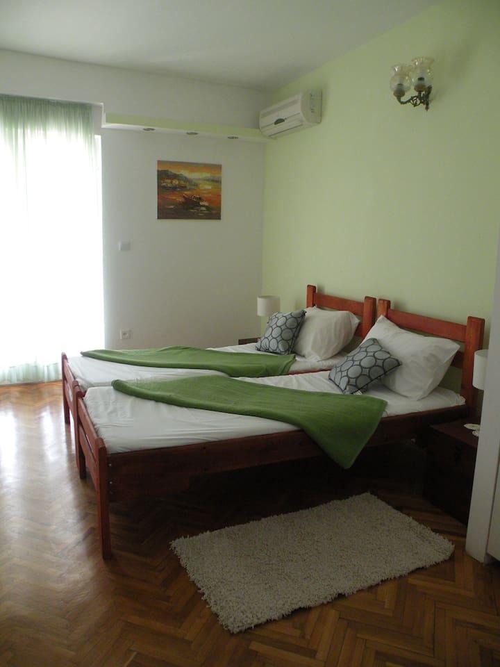 De 2 persoonsslaapkamer