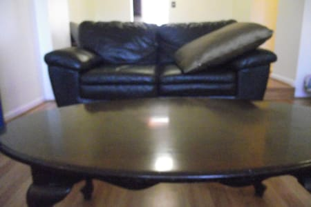 Leather Loveseat - Silver Spring