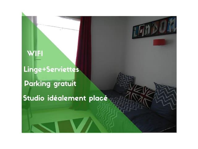 Studio à Wazemmes proche du métro, parking gratuit - ลีลล์
