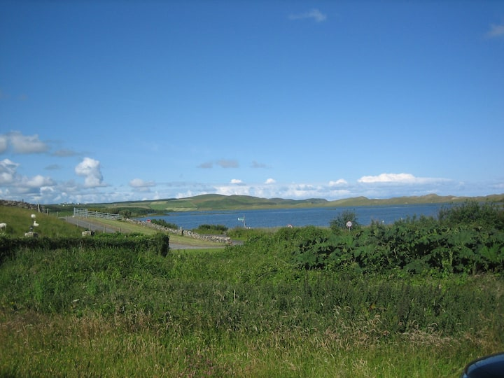 Dunfanaghy with beautiful view over the New Lake