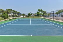 Count 'em: Two tennis courts! Don't forget your rackets and balls!