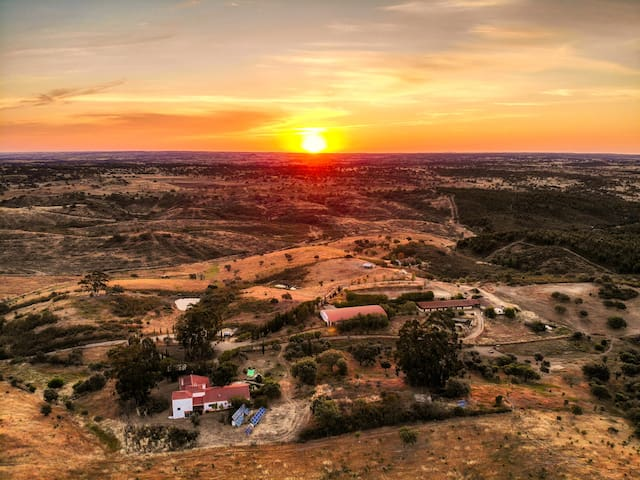 Sonnenaufgang bei Nova Tero am 02.06.2019 um 06.15 Uhr