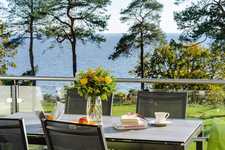 Lake view 95m² penthouse appartment Usedom