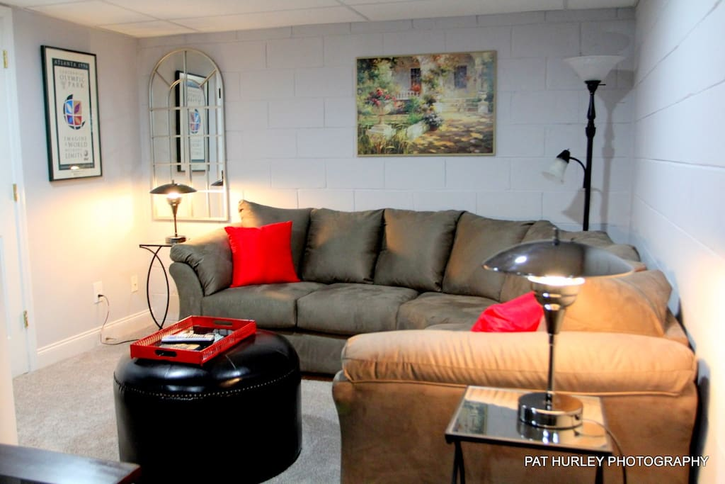 Living area with sectional.