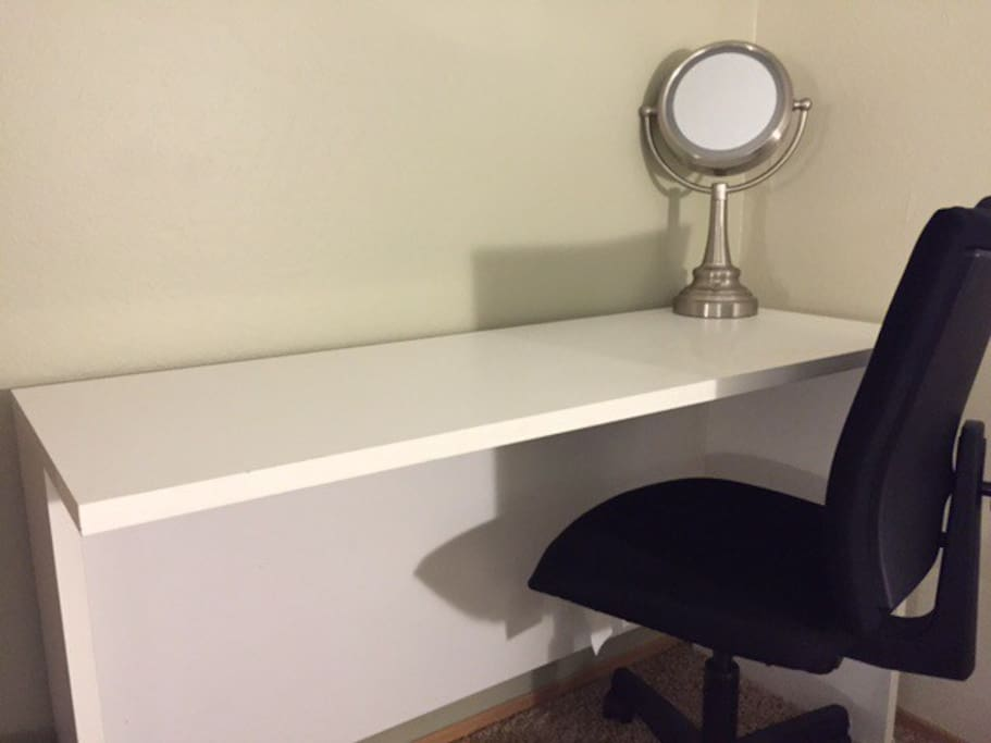Small desk for putting on makeup :) or whatever you like