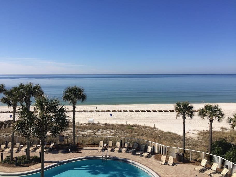 This is your view from the 4th floor condo on the ocean!