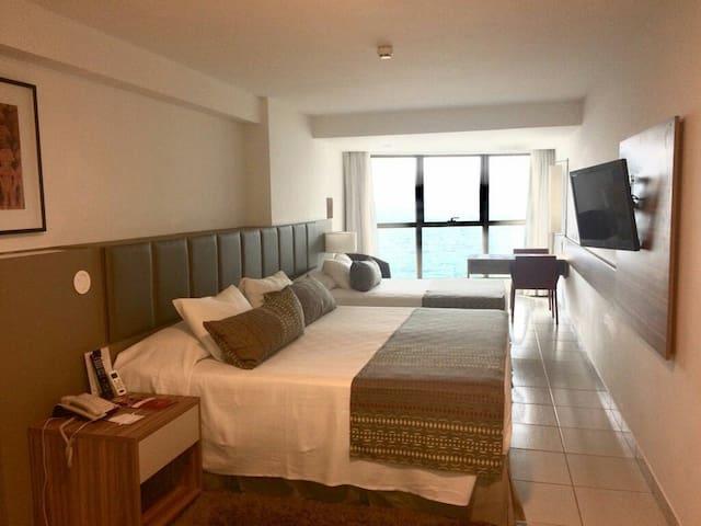 Flat na Avenida Boa Viagem, excelente localização - Recife - Serviced apartment