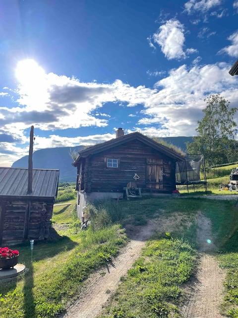 Mysigt litet hus på gården tun - unikt ställe