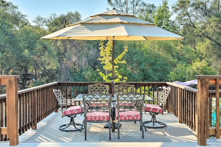 Bright 'Gold Country' Home w/Pool, Deck, Fire Pit!