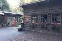Holiday decor at FlipJack Ranch