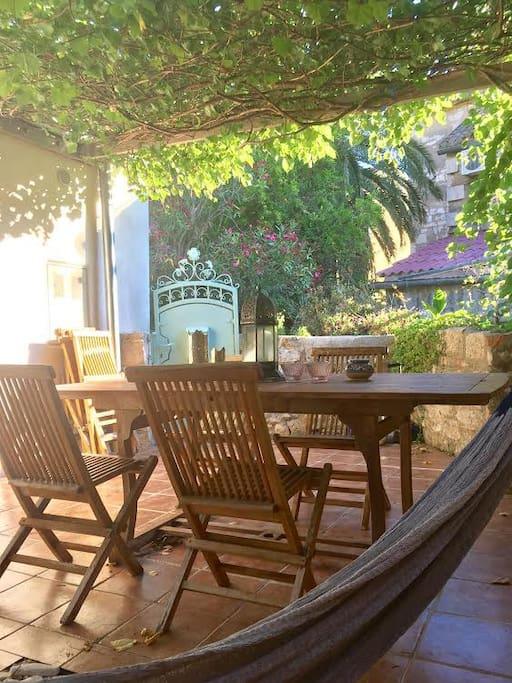 patio - seen from hammock