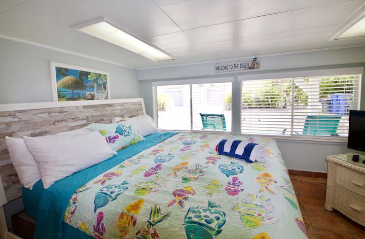 Beachfront, King bed, couch for one, Kitchen, Tiki Hut, Grill