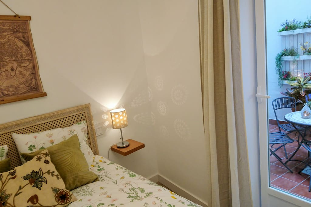 Main bedroom has direct access to the patio