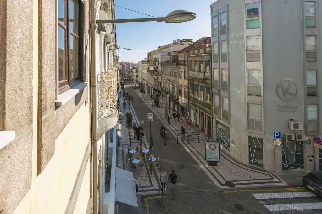rua Santa Catarina , início zona pedonal.