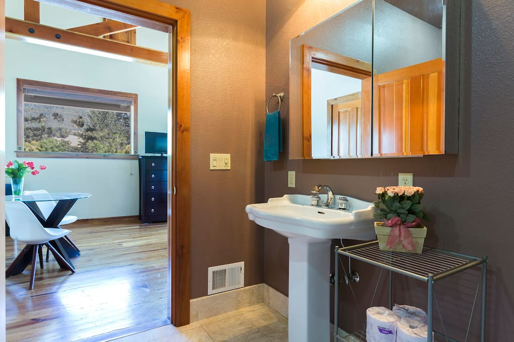 Private, en-suite bathroom for your convenience.