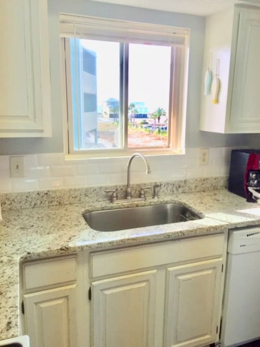 Newly renovated kitchen - October 2016! Window has ocean view!