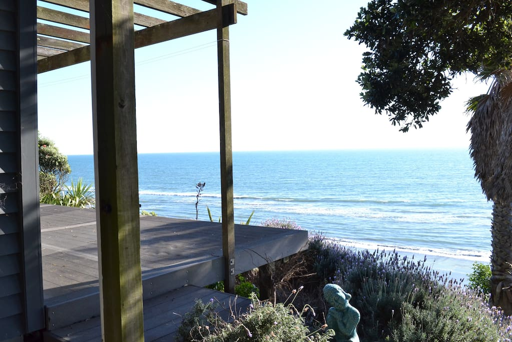 Bottom deck - photo from top of walkway to beach down side of property.