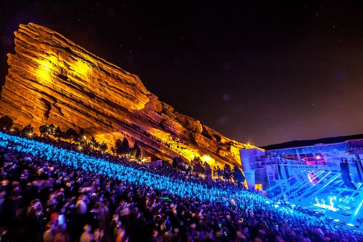 Red Rocks Amphitheater is 45 minutes away!