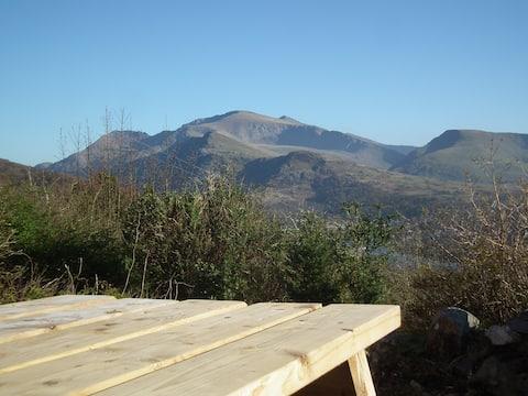 inspirująca górska eyrie, widoki Snowdon Llanberis