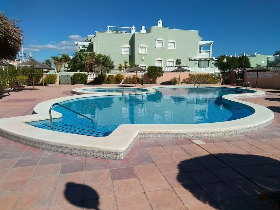 The pool is less than 100m from the apartment