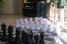 Wohnzimmer Schachpartie 1