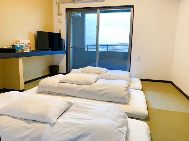 Newly build all ocean-view rooms/JPN sytle w/FUTON