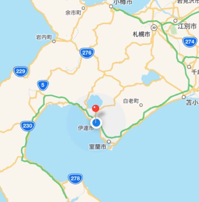 The house is in Date city,the nearest station is Date-Monbetsu station. NOT Hakodate!!!