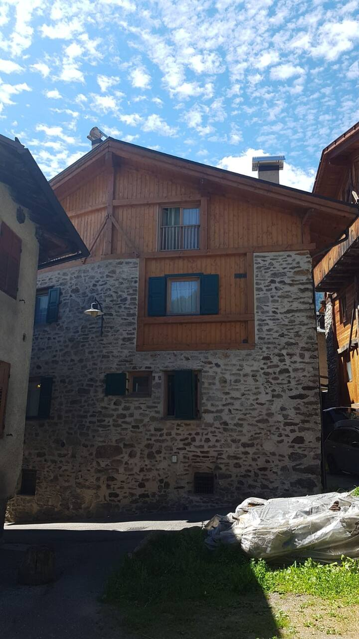 "Traditional Holiday Apartment ""Appartamento Peio"" with Mountain View, Fireplace & TV; Parking Available, Pets Allowed"