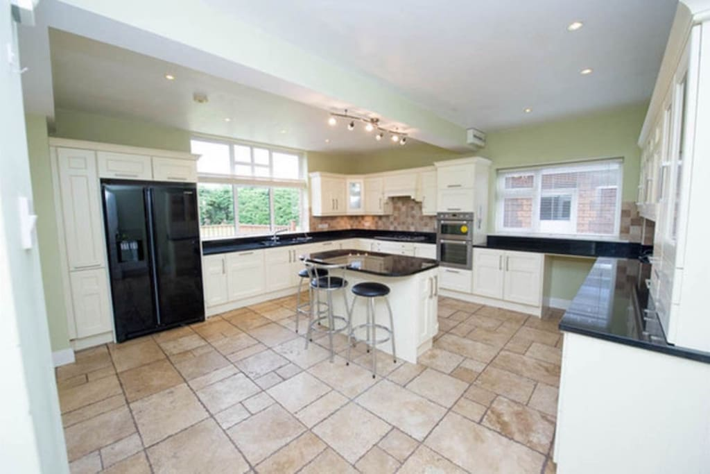 Large kitchen with all mod cons