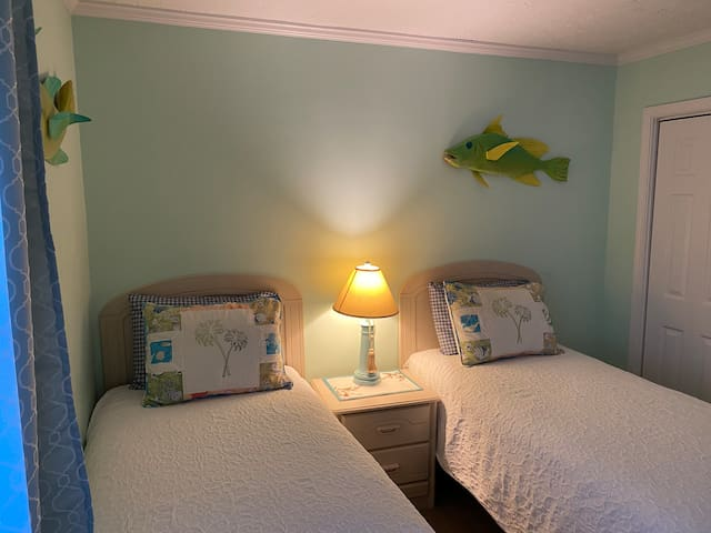 This is the second bedroom with 2 twin beds.